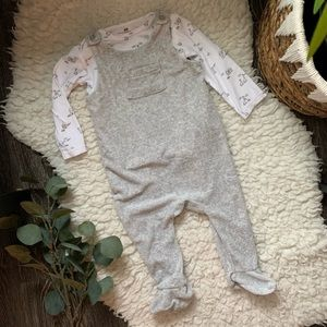 H&M   Footed overall set